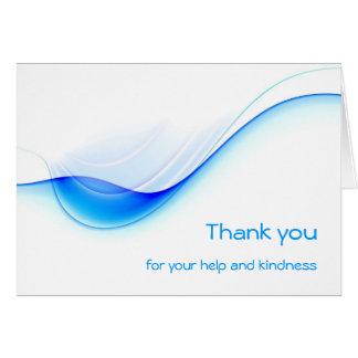cartão branco claro azul