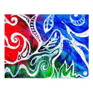 Cartão branco da pintura do abstrato do Doodle