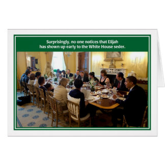 Cartão branco de Seder do Passover da casa de