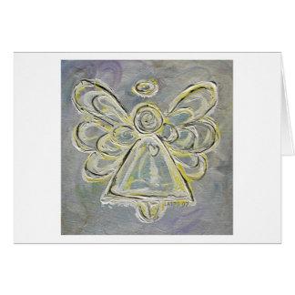 Cartão branco do anjo
