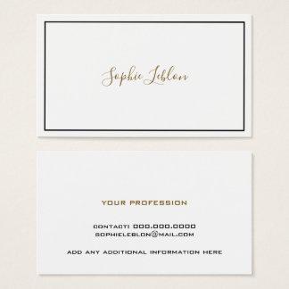 cartão branco do contato com nome de pia batismal