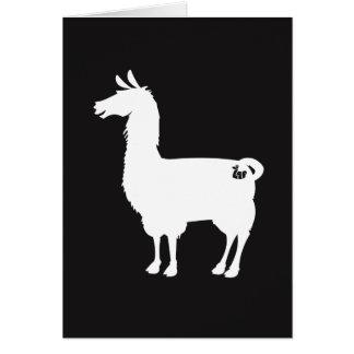 Cartão branco do lama