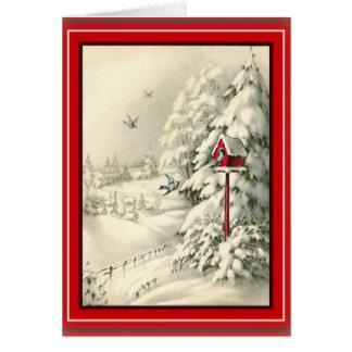 Cartão branco do país das maravilhas do inverno do