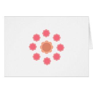 Cartão Branco do rosa da mandala do design