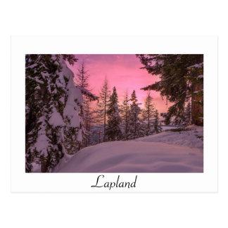 Cartão branco do texto do por do sol cor-de-rosa