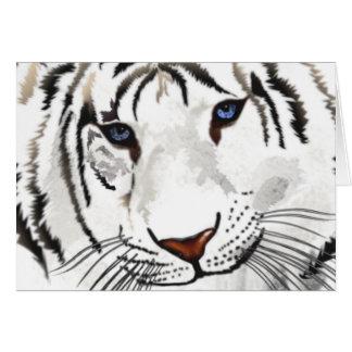 Cartão branco do tigre