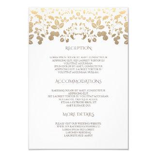 Cartão Branco e informação de detalhes floral do