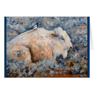 Cartão branco espiritual das belas artes do búfalo