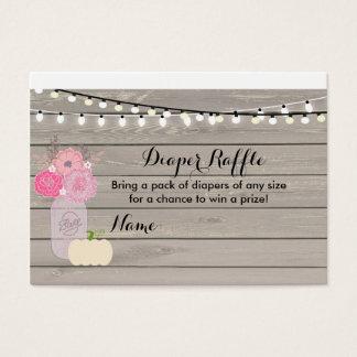 Cartão branco floral cor-de-rosa do Raffle da