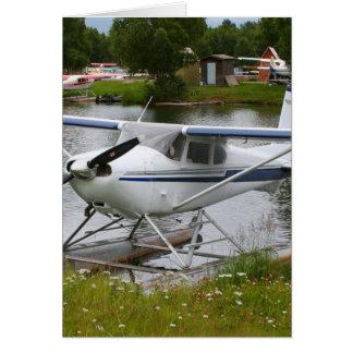 Cartão Branco, marinho & plano cinzento do flutuador,