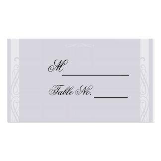 Cartão branco perolizado do lugar do casamento da cartão de visita