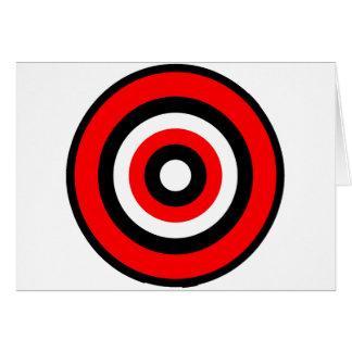 Cartão Branco preto vermelho do BullsEYE