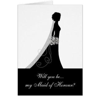 Cartão Branco preto, você será minha empregada doméstica