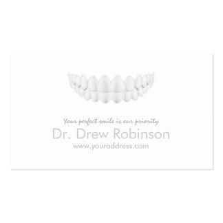 Cartão branco simples da odontologia do sorriso cartão de visita