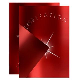 Cartão Branco vermelho da estrela do rubi do metal do
