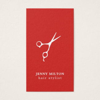 Cartão branco vermelho simples da nomeação do