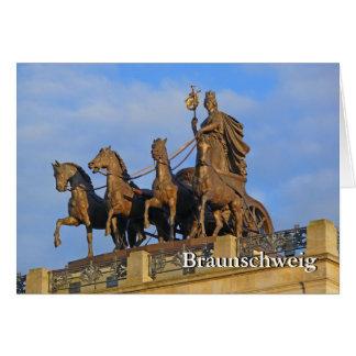 Cartão Bransvique, Quadriga no castelo de Brunsvique