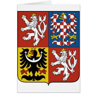 Cartão Brasão da república checa