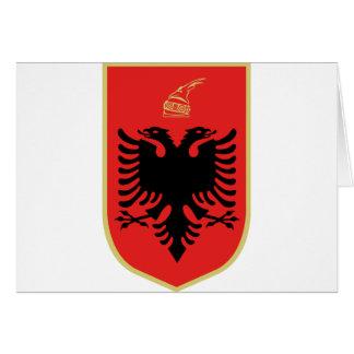 Cartão Brasão de Albânia