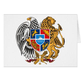 Cartão Brasão de Arménia