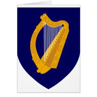Cartão Brasão de Ireland - emblema irlandês