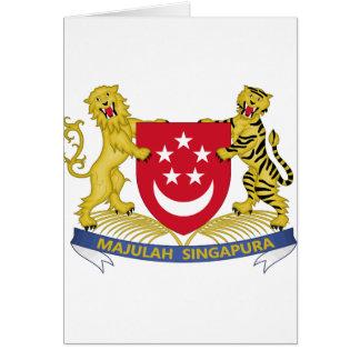 Cartão Brasão do emblema do 新加坡国徽 de Singapore