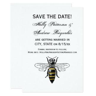 Cartão Brasão heráldica formal C da abelha #2 do vintage