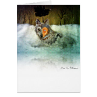 Cartão bravo do lobo