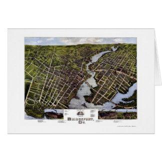 Cartão Bridgeport, mapa panorâmico do CT - 1875