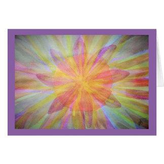 Cartão Brilhante, abstrato, aguarela do caleidoscópio