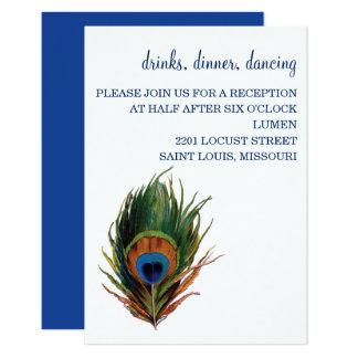 Cartão brilhante da recepção do pavão