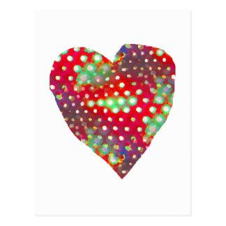 Cartão brilhante do coração