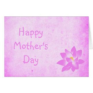 Cartão brilhante do dia das mães do lírio de água