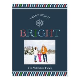 Cartão brilhante do feriado da foto dos espírito