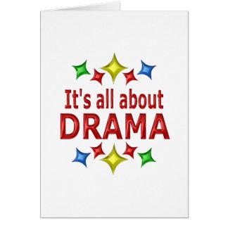 Cartão Brilhante sobre o drama