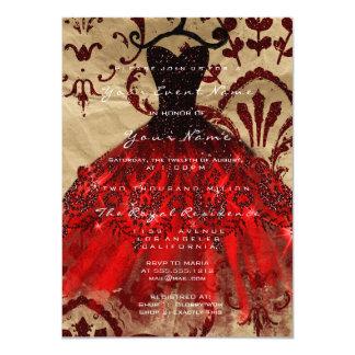 Cartão Brilho Borgonha Kraft vermelho violeta nupcial do