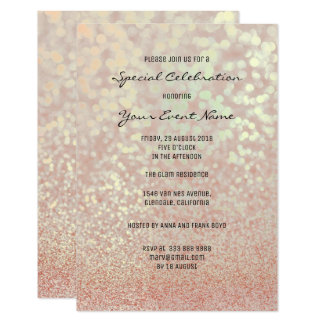 Cartão Brilho Champagne do falso do ouro do rosa do rosa