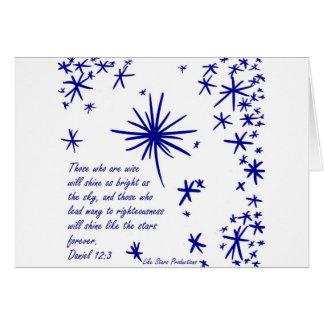 Cartão Brilho como as estrelas