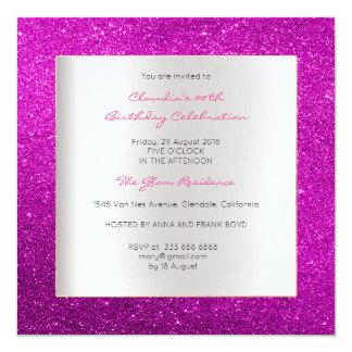 Cartão Brilho cor-de-rosa brilhante do aniversário mínimo