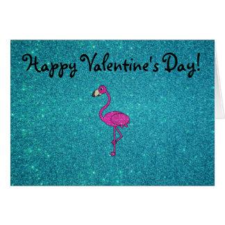 Cartão Brilho cor-de-rosa feminino de turquesa do