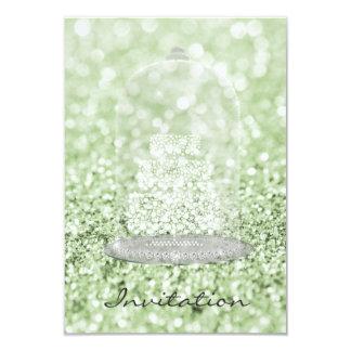 Cartão Brilho de prata do Vip do bolo do diamante do