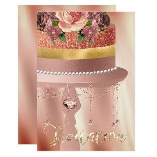 Cartão Brilho de seda das cortinas dos cristais do ouro