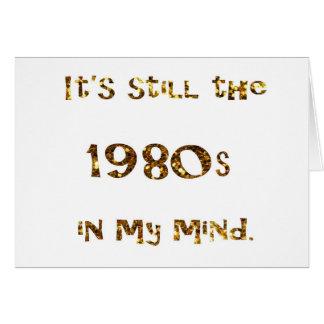 Cartão brilho do ouro da nostalgia dos anos 80