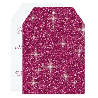 Cartão Brilho iridescente cor-de-rosa