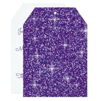 Cartão Brilho iridescente roxo