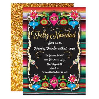 Cartão Brilho mexicano do ouro do partido de Feliz