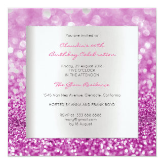 Cartão Brilho mínimo do rosa do rosa do aniversário das