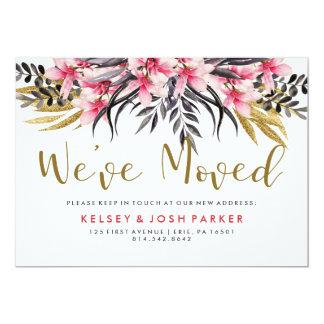 Cartão Brilho na moda do ouro do falso e endereço novo