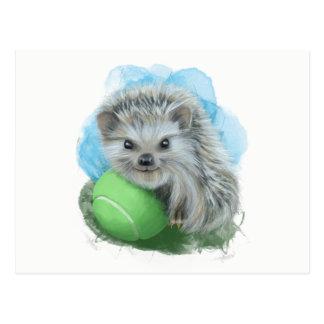 Cartão brincalhão do ouriço