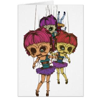 Cartão Brinquedo mau da vida da boneca Freaky assustador